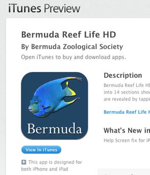 Bermuda REEF LIfe app iTunes