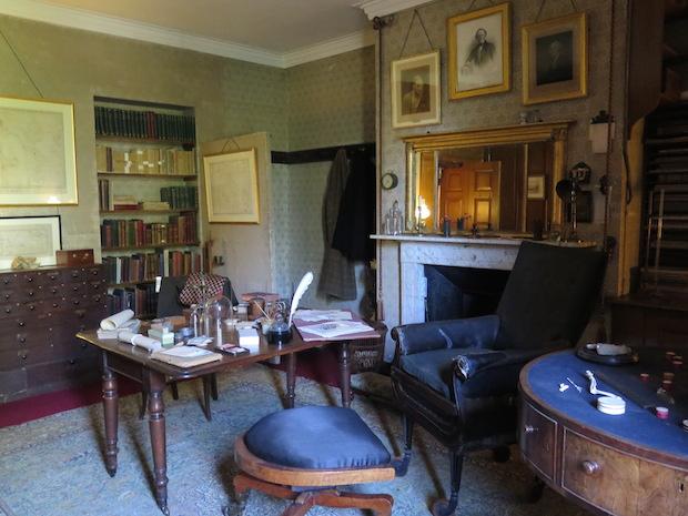 Darwin's study at Down House