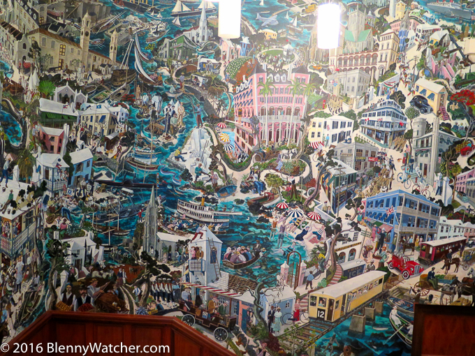 Graham Fosters mural in the National Museum of Bermuda