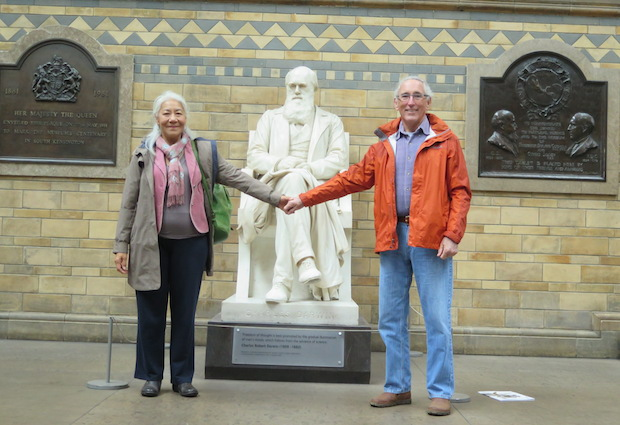 With Charles Darwin at the Natural History Museum
